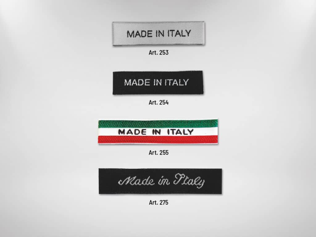 etichette stampate made in Italy